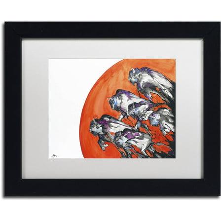 Trademark Fine Art Out Of A Rising Sun Canvas Art By Marc Allante  White Matte  Black Frame