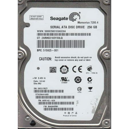 ST9250410AS 5VG WU PN 9HV142 620 FW B003HPM1 Seagate 250GB