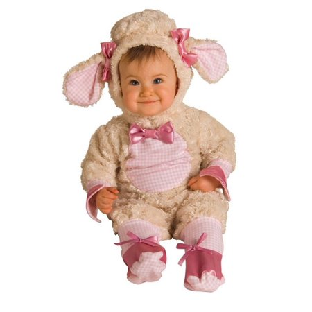Newborn/Infant Plush Pink Lamb Costume (Lamb Infant Costume)