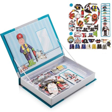 Amazing Magnetic Puzzle Book, Best Dress up Themed Jigsaw for Kids, Educational and Creative Toy for Toddlers, Set of 34 Mix & Match Dress up Accessories for Boys and Girls, Ages 3+