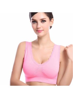 8bf98916ee Product Image Women s Seamless Piecing Lace Sports Bra Underwear With  Detachable Chest Pad Without Steel Ring