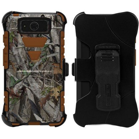 AUTUMN LEAF CAMO TRI-SHIELD CASE BELT CLIP HOLSTER FOR MOTOROLA DROID - Droid Tri Fighter