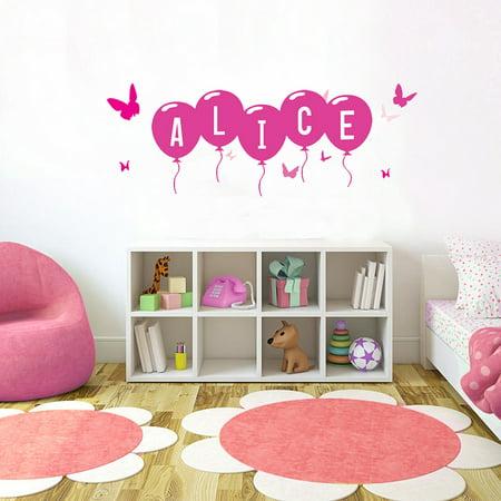 Nursery Name Art - Pink Butterfly Font4 h4