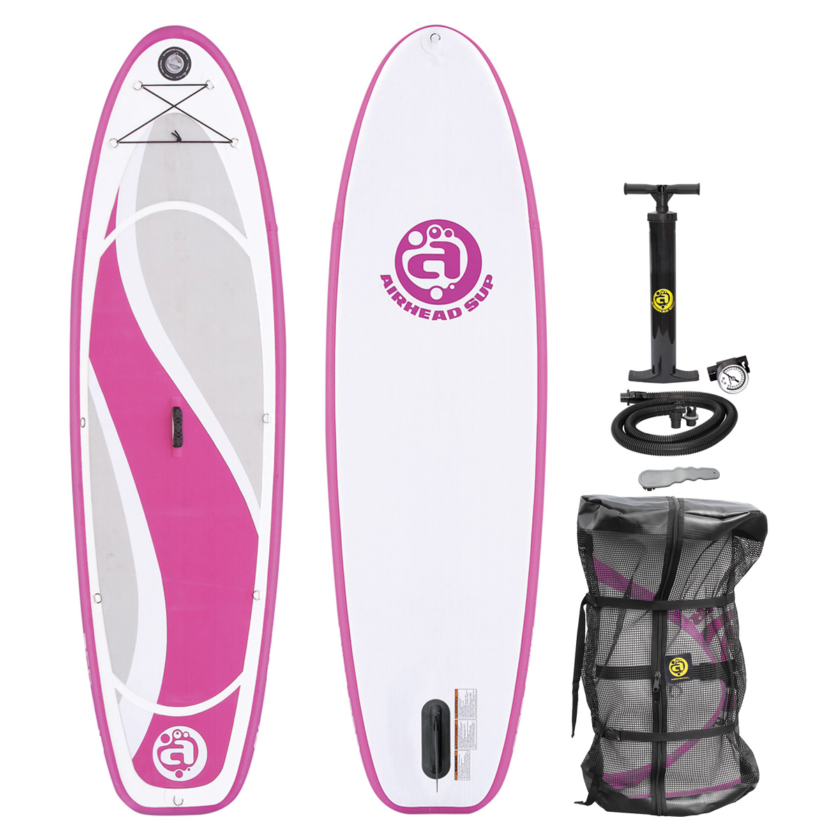 Airhead BLISS 930 Inflatable Stand Up Paddle Board, Pink SUP