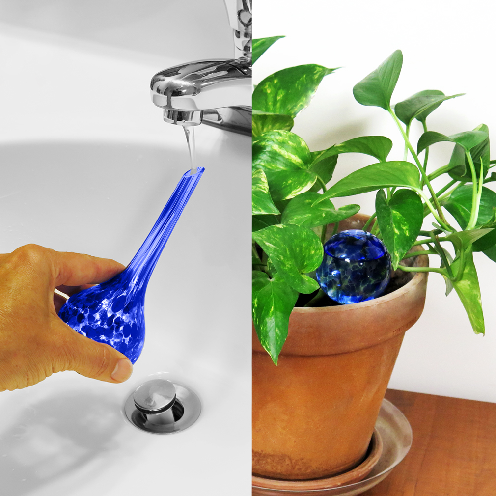 Evelots Mini Decorative Glass Watering Globes Plant Self-Watering Bulb- Set of 3