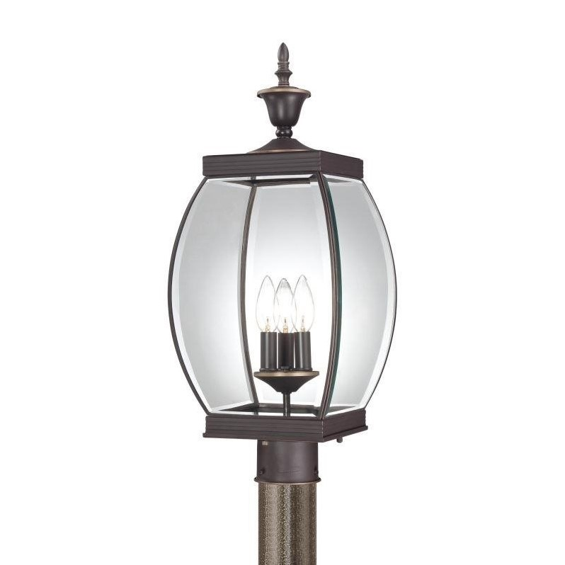 """Quoizel OAS9009 Oasis 3 Light 23"""" Tall Post Lantern with Clear Glass"""