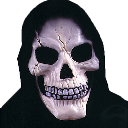 Skull with Shroud Mask Adult Halloween Accessory