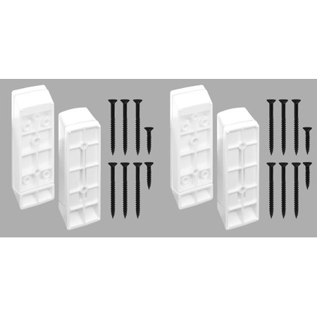 Titan Building Products White Stair Deck Rail Connector For 2X4 Material