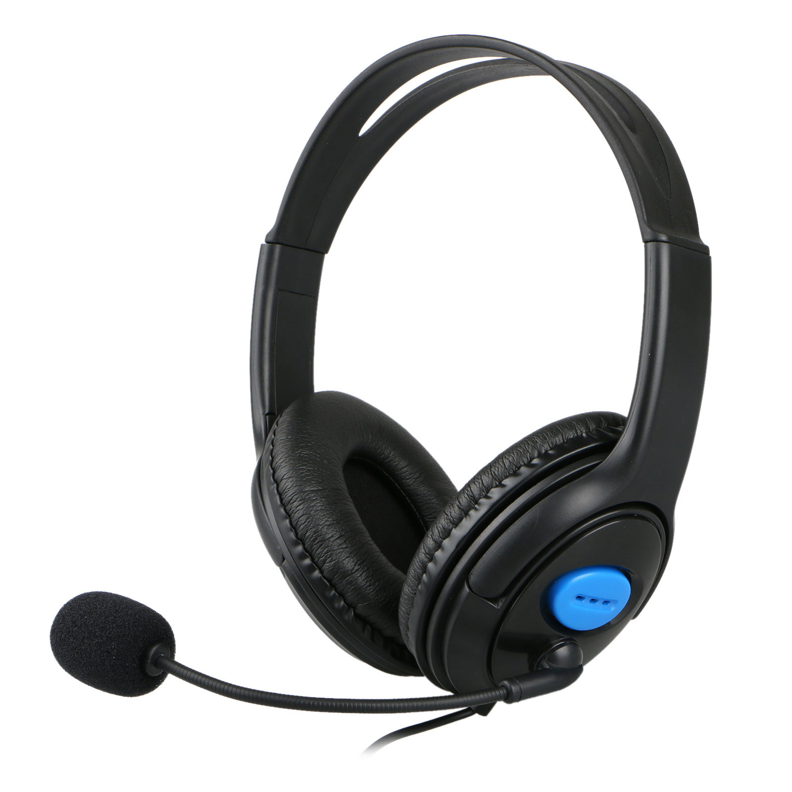 Stereo Gaming Headset for PS4, Xbox One,  PC, Mac, Laptop, EEEKit Wired Over Ear Headphones with Noise Canceling Mic, Surround Sound & Soft Memory Earmuffs