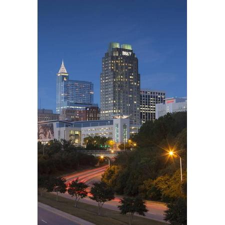 North Carolina, Raleigh, City Skyline, Dusk Print Wall Art By Walter - Party City Raleigh North Carolina