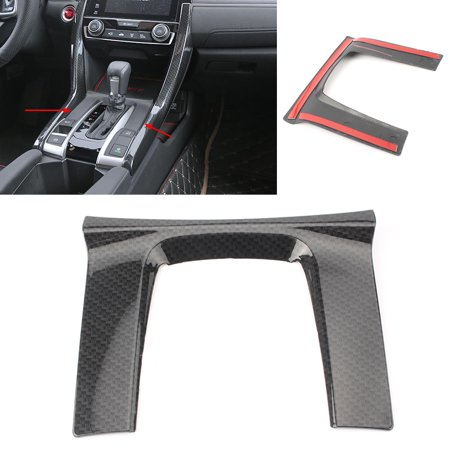 GZYF ABS Carbon Fiber Style Gear Shift Panel Cover Trim For Honda Civic Sedan 2016 - 2018