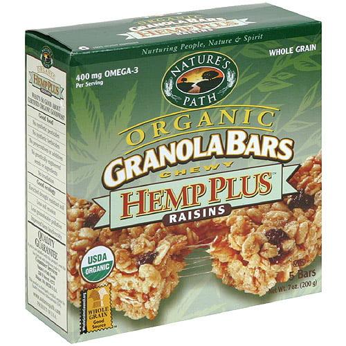 Nature's Path Organic Sunny Hemp Granola Bars, 7.4 oz (Pack of 6)