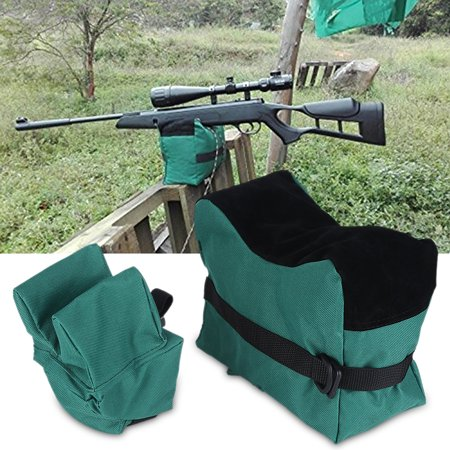 Anauto Unfilled Front & Rear Shooters Gun Rest Sand Bags Shooting Bench Steady Sandbag, Shooting Bench Sandbag, Shooting
