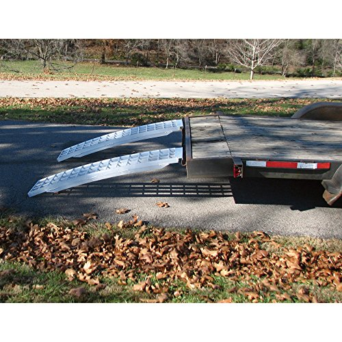 Aluminum Trailer Ramps - Mfg In The USA - 5ft L x 16in W 10,000 lb Cap. Per Pair