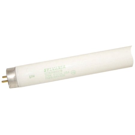 25 watt; T8; Fluorescent; 4100K Cool White; 82 CRI; Medium Bi Pin (Fluorescent Miniature Bi Pin)