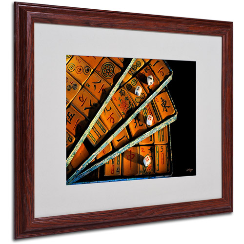 "Trademark Fine Art ""Mad For Mahjong"" by Lois Bryan, Wood Frame"