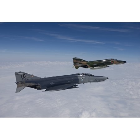 Two QF-4Es from the 82nd ATRS fly over the Gulf of Mexico during a training sortie out of Tyndall Air Force Base Florida Poster Print