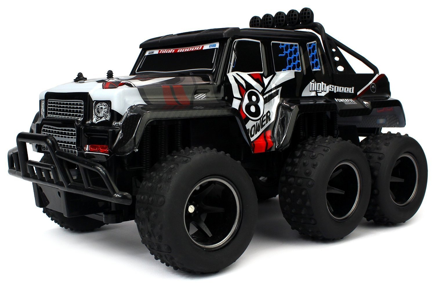 Speed Wagon 6X6 Remote Control RC High Performance Truck, 2.4 GHz Control System, Big Scale 1:10 Size Ready To... by Velocity Toys
