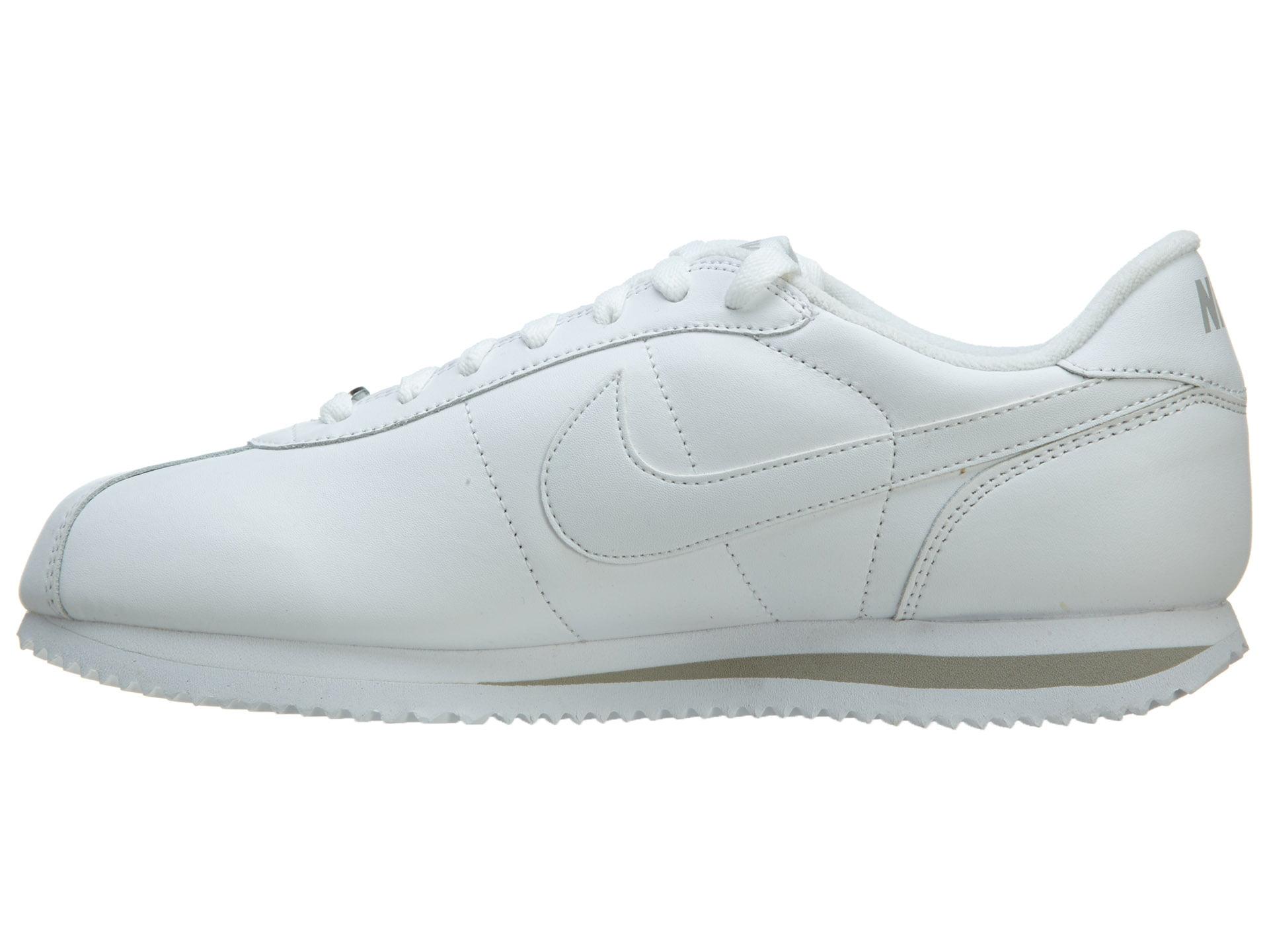 Nike Men's NIKE CORTEZ BASIC LEATHER '06 CASUAL SHOES 11 (WHITE/WHITE/LIGHT ZEN GREY)