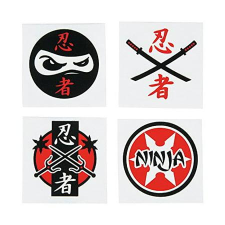Ninja Warrior Temporary Tattoos 72 count](Ninja Turtles Tattoo)