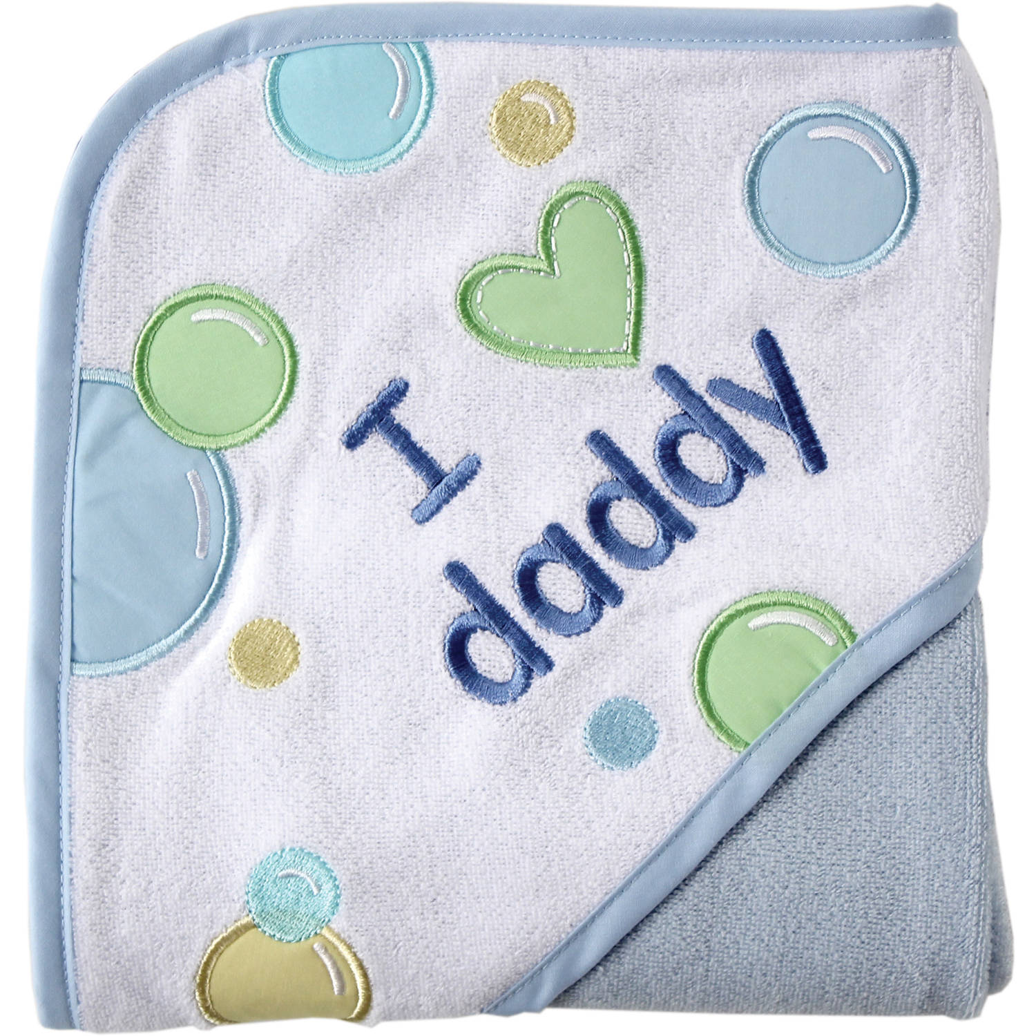 Luvable Friends Hooded Towel, I Love Applique, Choose Your Color
