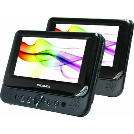 Sylvania (SDVD8739) SDVD8739, 7-Inch Dual Screen Portable DVD Player