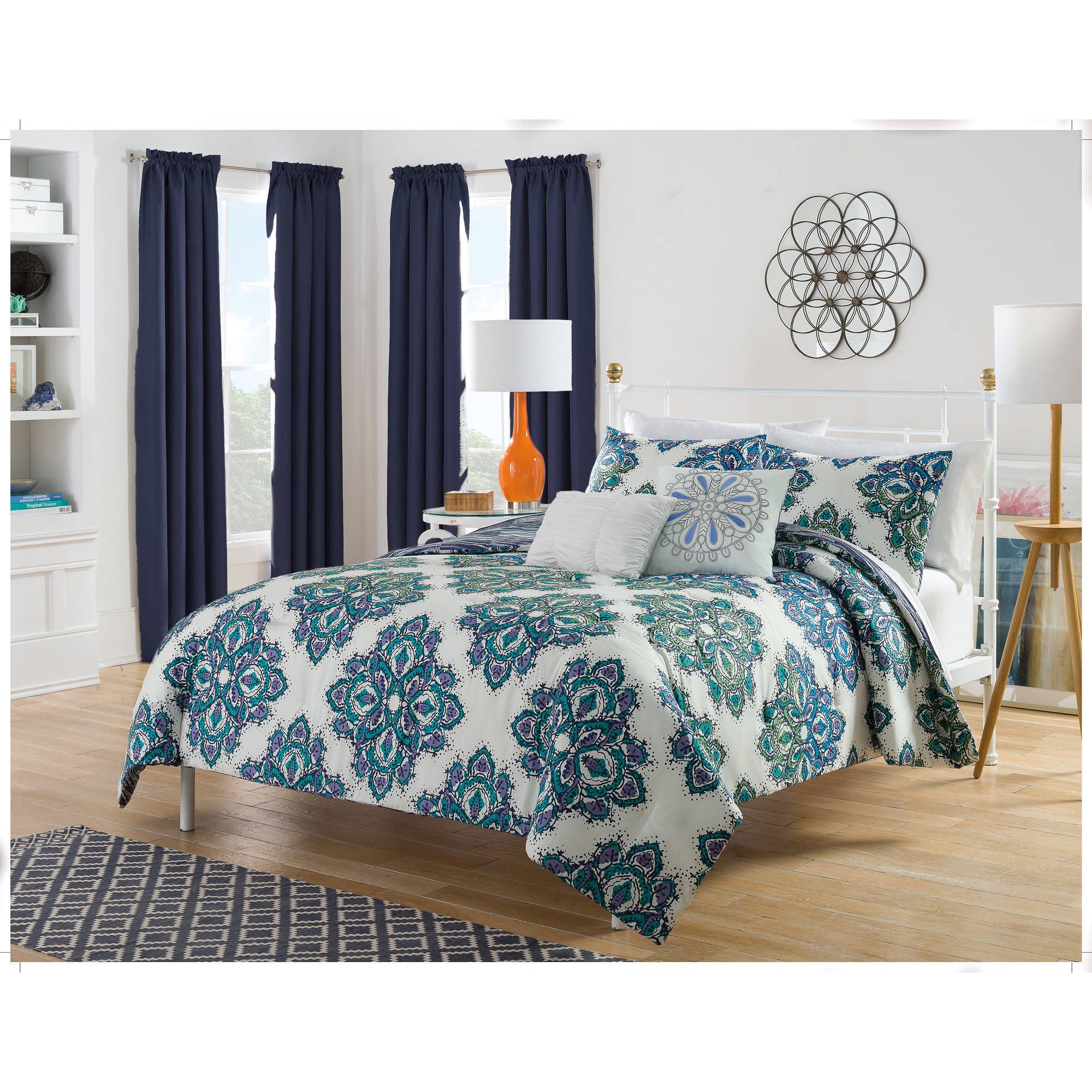 Harmony At Home Martina 5-Piece Reversible Bedding Comforter Set