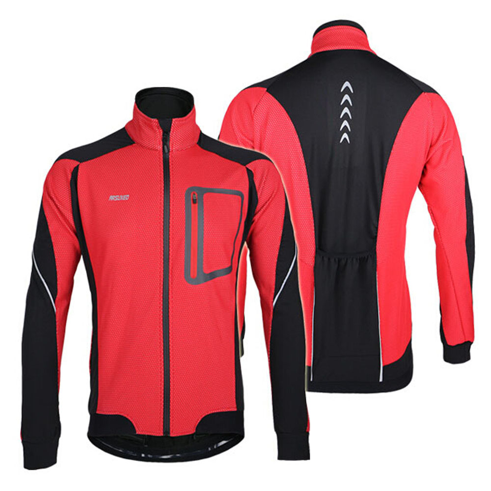 Winter Long-sleeved Cycling Jackets Warm Soft Bike Jerseys Thermal Fleece Coat