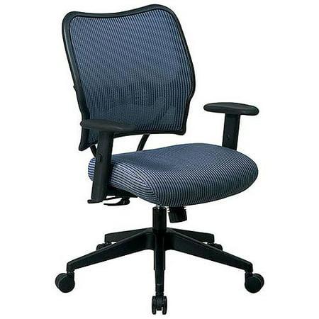 Deluxe Chair with Blue Mist VeraFlex® Back and VeraFlex® Fabric Seat