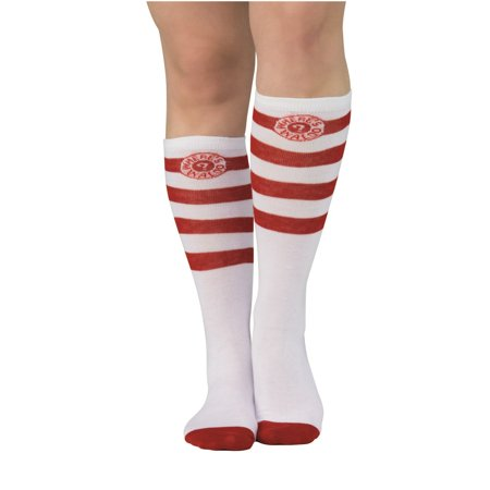 Where's Waldo Adult Waldo Striped Halloween Costume Accessory Socks