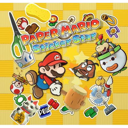 Paper Mario: Sticker Star, Nintendo, Nintendo 3DS, [Digital Download], (Paper Mario Sticker Star World 1 4)