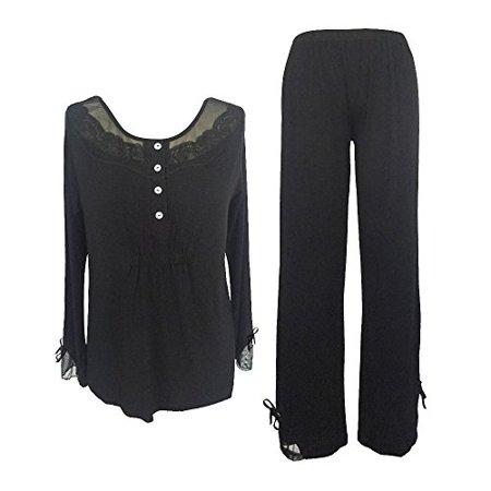 Sleepy Time Women's Bamboo Pajamas, Hot Flash Menopause Relief, Round Neck, M - image 1 of 1