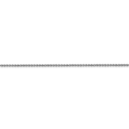 18k Leslie's Wg 1.15mm Solid D/c Cable Chain Necklace Pendant Charm Fine Jewelry For Women Gifts For Her - image 3 de 9