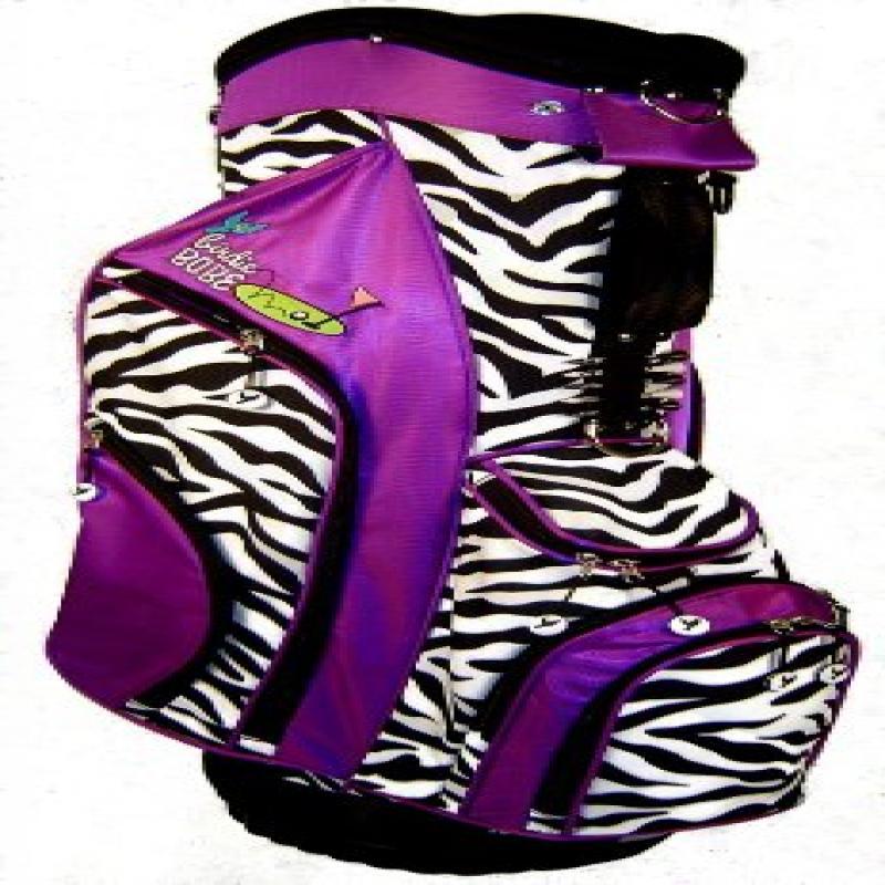 Birdie Babe Womens Golf Bag Purple Zebra Ladies Hybrid Go...
