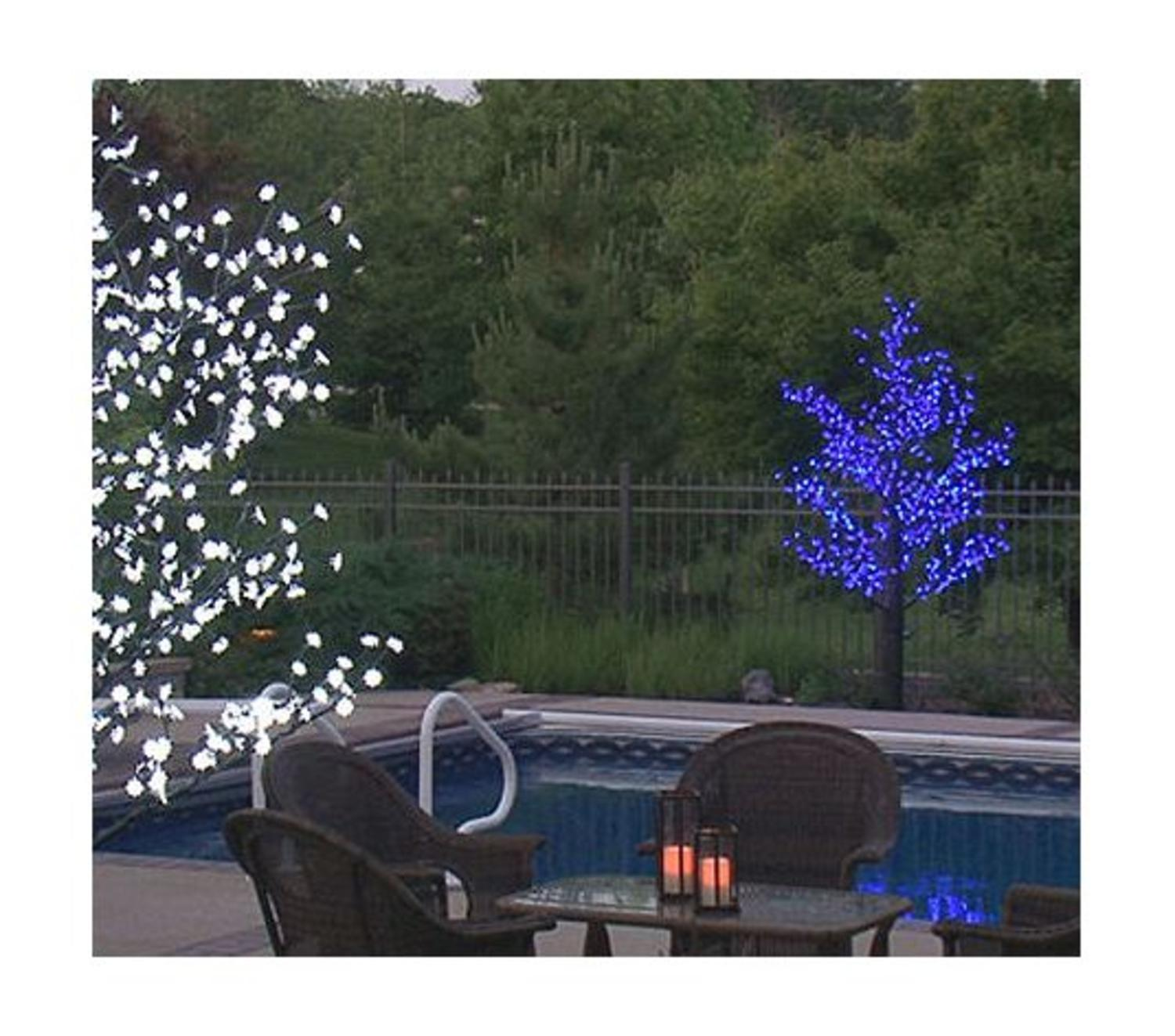 free u prelit led outdoor christmas tree decoration blue flower lights with outdoor christmas trees - Prelit Led Christmas Tree
