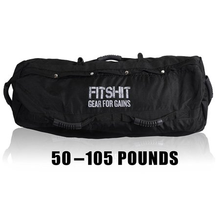 4e8a529be7a0 FITSHIT Heavy Duty Sandbags for Fitness Workout? 50-110lbs Durable Black  Sandbag? Weight Equipment for Lifting ? for Weightlifting, Powerlifting, ...