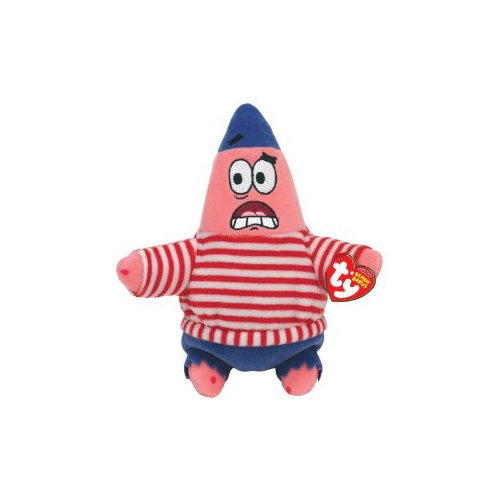 TY Beanie Baby - PATRICK STAR ( FIRST MATE ) (6.5 inch)