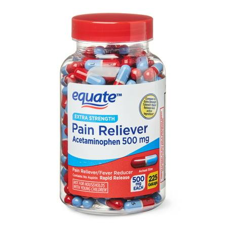 Equate Extra-Strength Acetaminophen Rapid Release Gel-caps, 500 mg, 225-Count