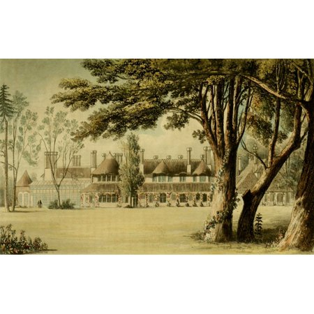 Park Cottages - Repository of Arts 1817 His Majestys cottage Windsor Park Stretched Canvas - Unknown (24 x 36)