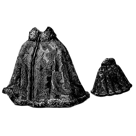 Sewing Pattern: 1897 Cape with Fitted Back Pattern