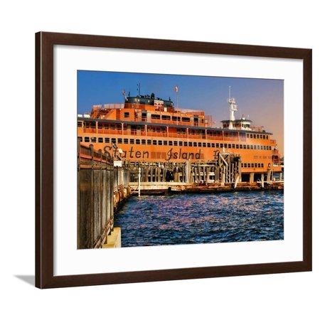 Staten Island Ferry, Manhattan, New York City Framed Print Wall Art By Sabine (Deli Grocery For Sale In Staten Island)
