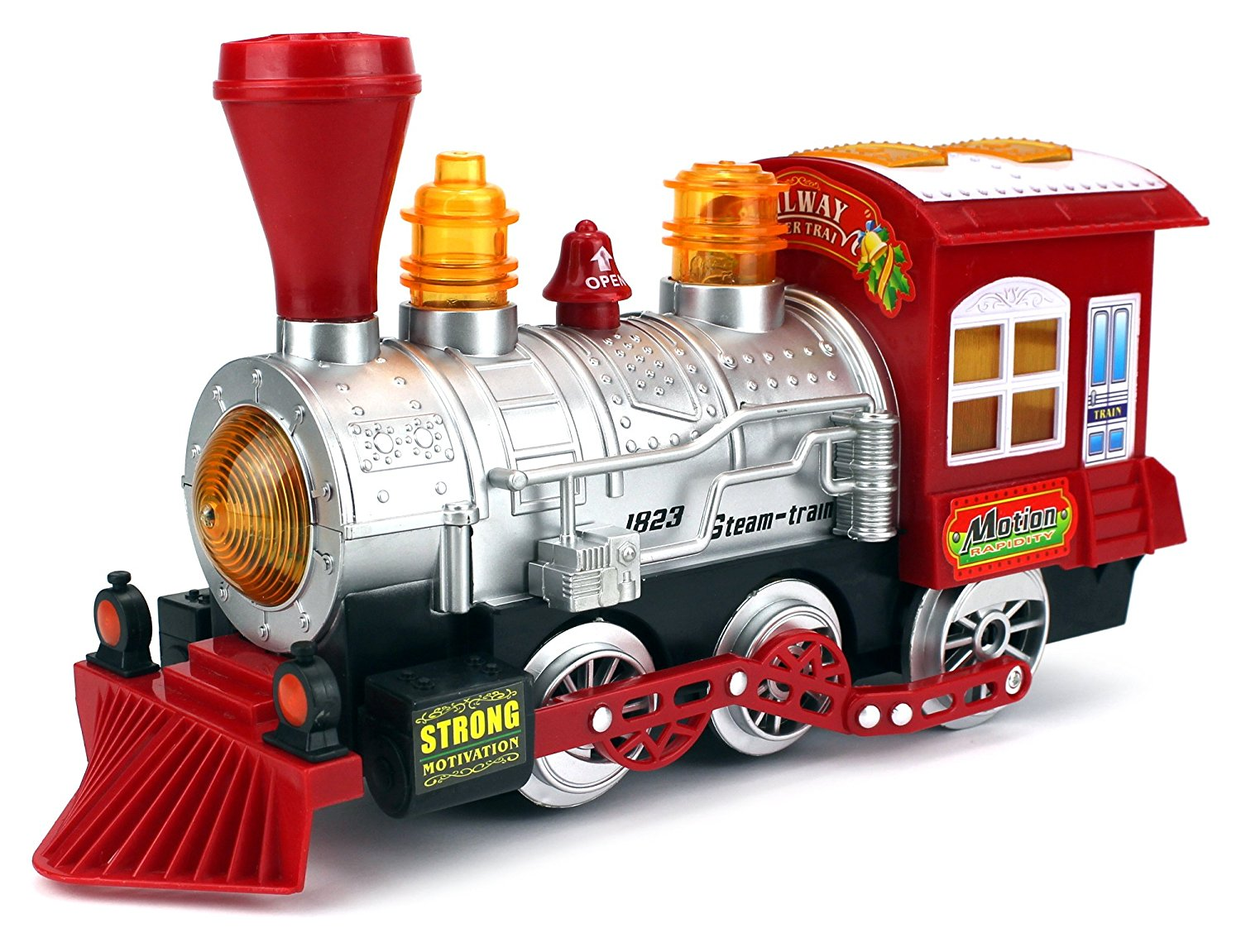 Bubble Steam Train Locomotive Engine Car Bubble Blowing Bump & Go Battery Operated Toy... by Velocity Toys