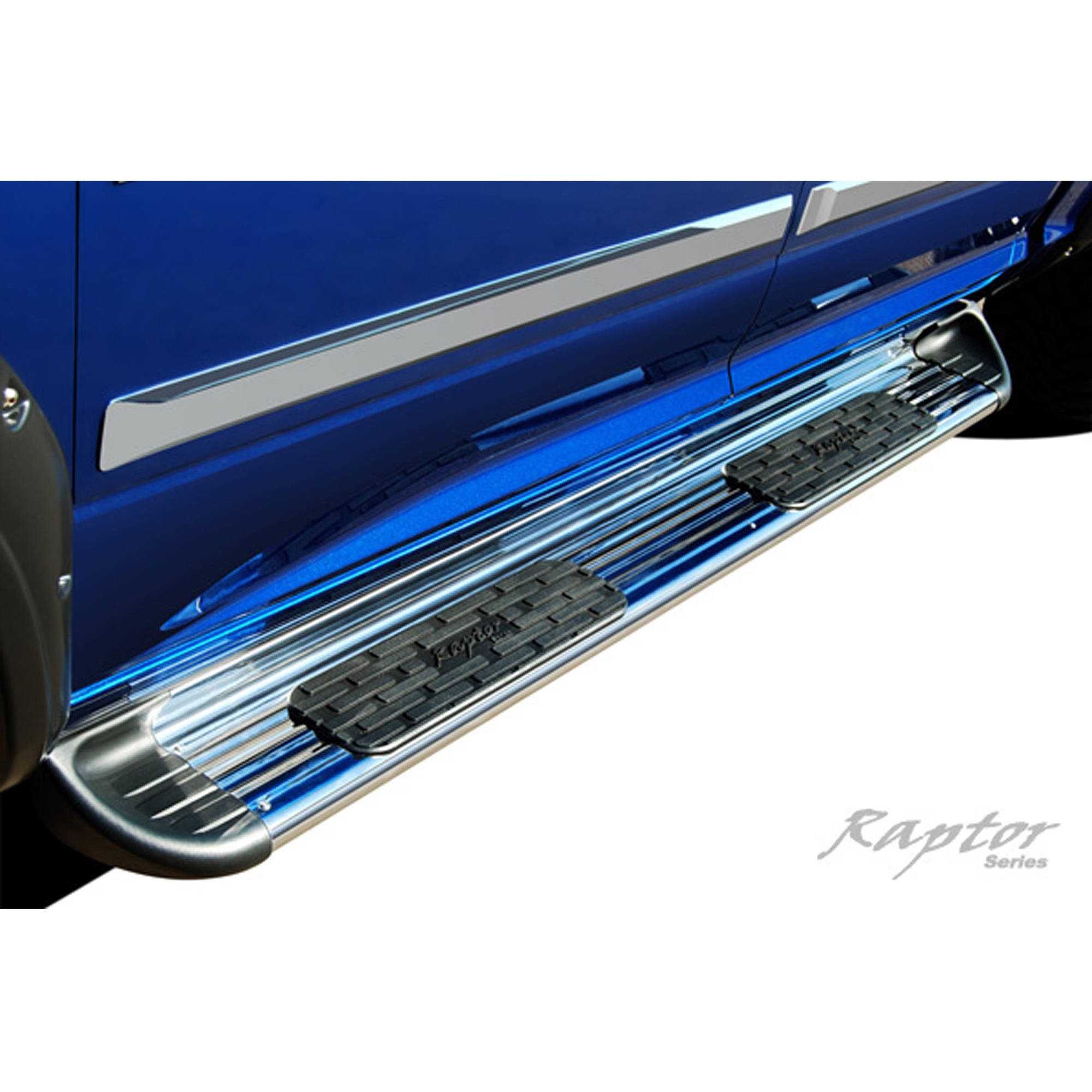 "Raptor Series 14-15 Chevy Silverado 1500/2500/3500 Double Cab 7"" Running Board, Stainless Steel"