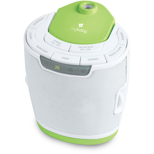 homedics mybaby soundspa lullaby sound machine and projector