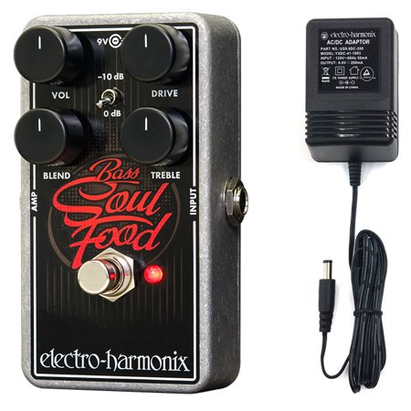 Electro-Harmonix BASS SOUL FOOD Transparent Overdrive Bass Guitar Pedal with Power