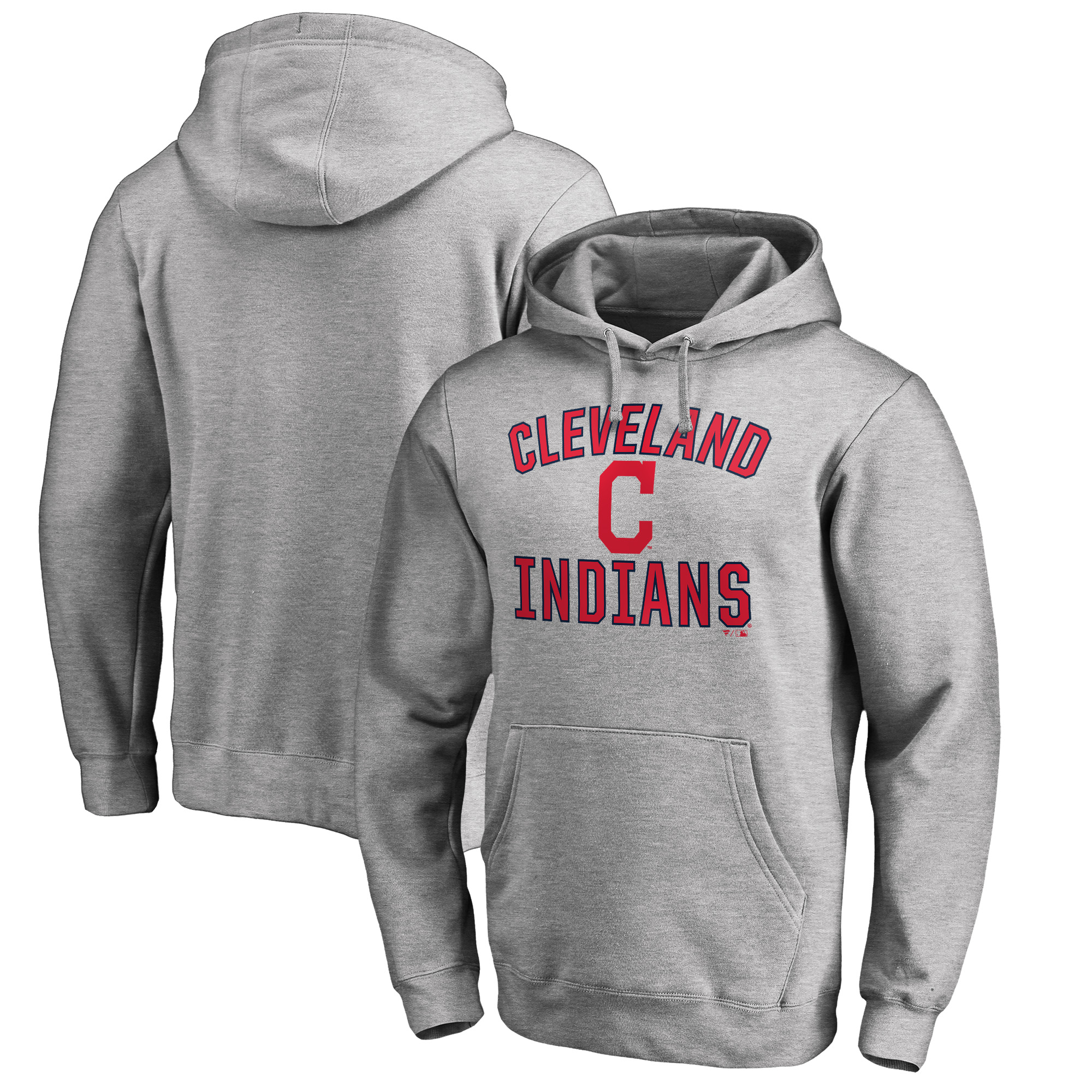 Cleveland Indians Big & Tall Victory Arch Pullover Hoodie- Ash