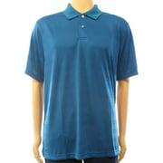John Ashford NEW Iced Teal Blue Men's Size Large L Performance Polo Shirt