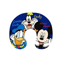 DisneyBigFaceMickeyMouse,DonaldDuck,andGoofyTravelPillowNavy