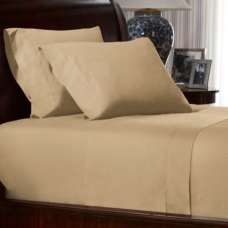 RALPH LAUREN Two STANDARD Pillowcases Burnished Chamois