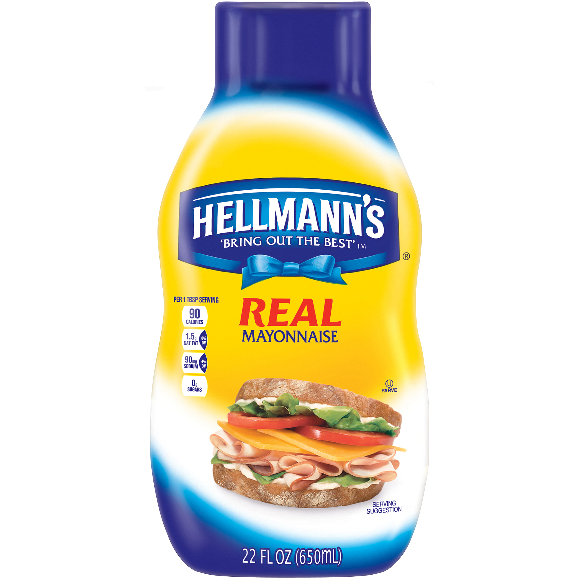 Hellmann's Real Squeeze Mayonnaise, 22 oz